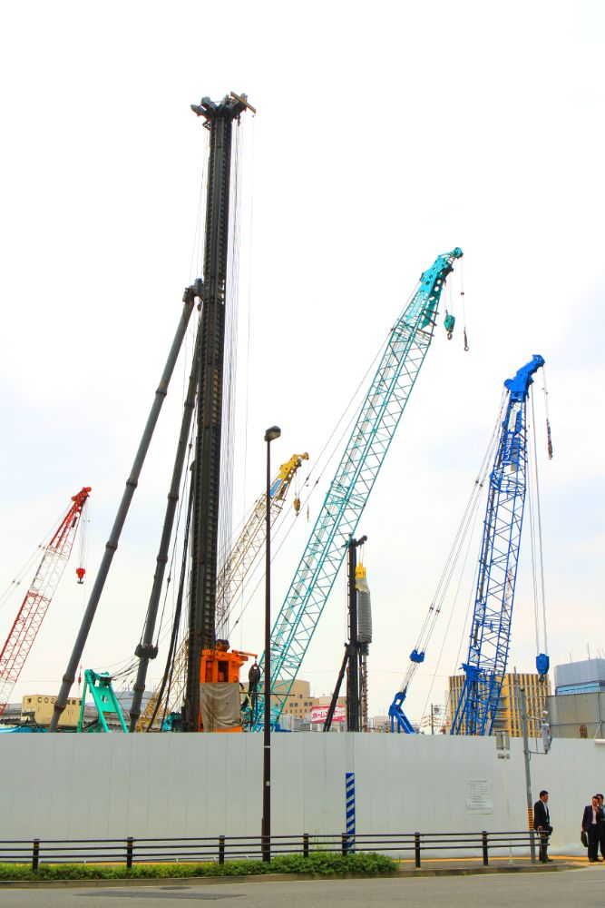 Photo in Abstract #crane #blue #green #red #yellow