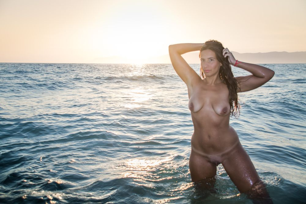 Photo in Nude #mulher #model #sunset