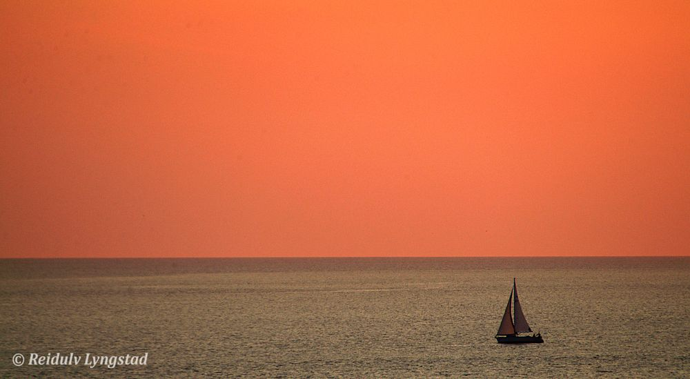 Photo in Sea and Sand #sail #boat #sailboat #sunset #ocean