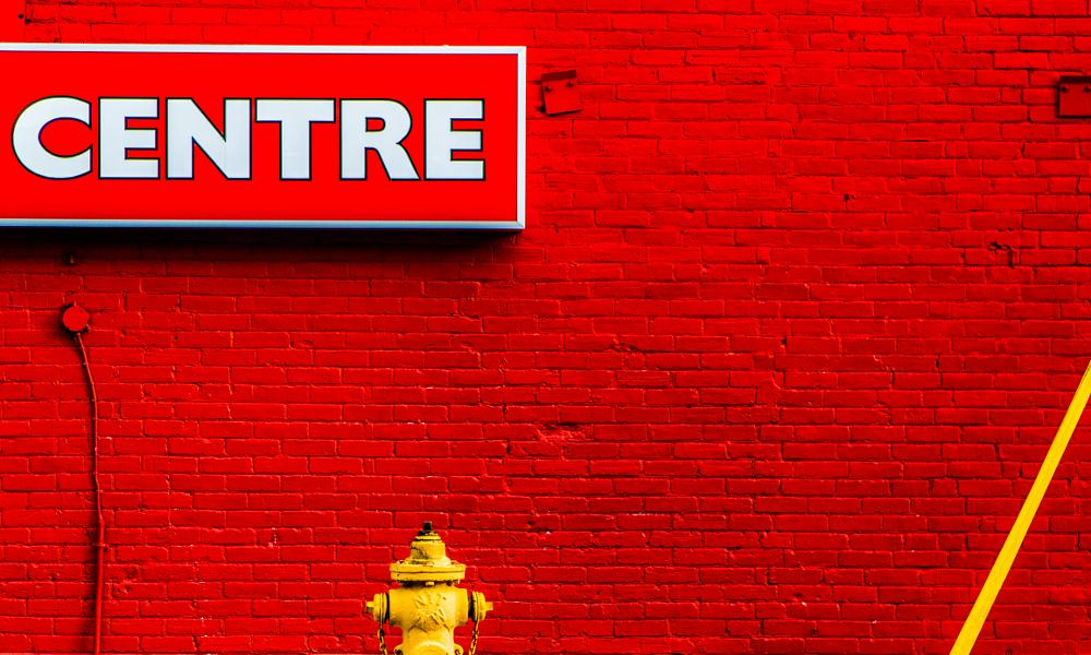 Photo in Abstract #toronto yonge street #toronto #red #yonge street #paint #color #abstract #fine art #street #centre #brick #red brick #painted brick #fire hydrant