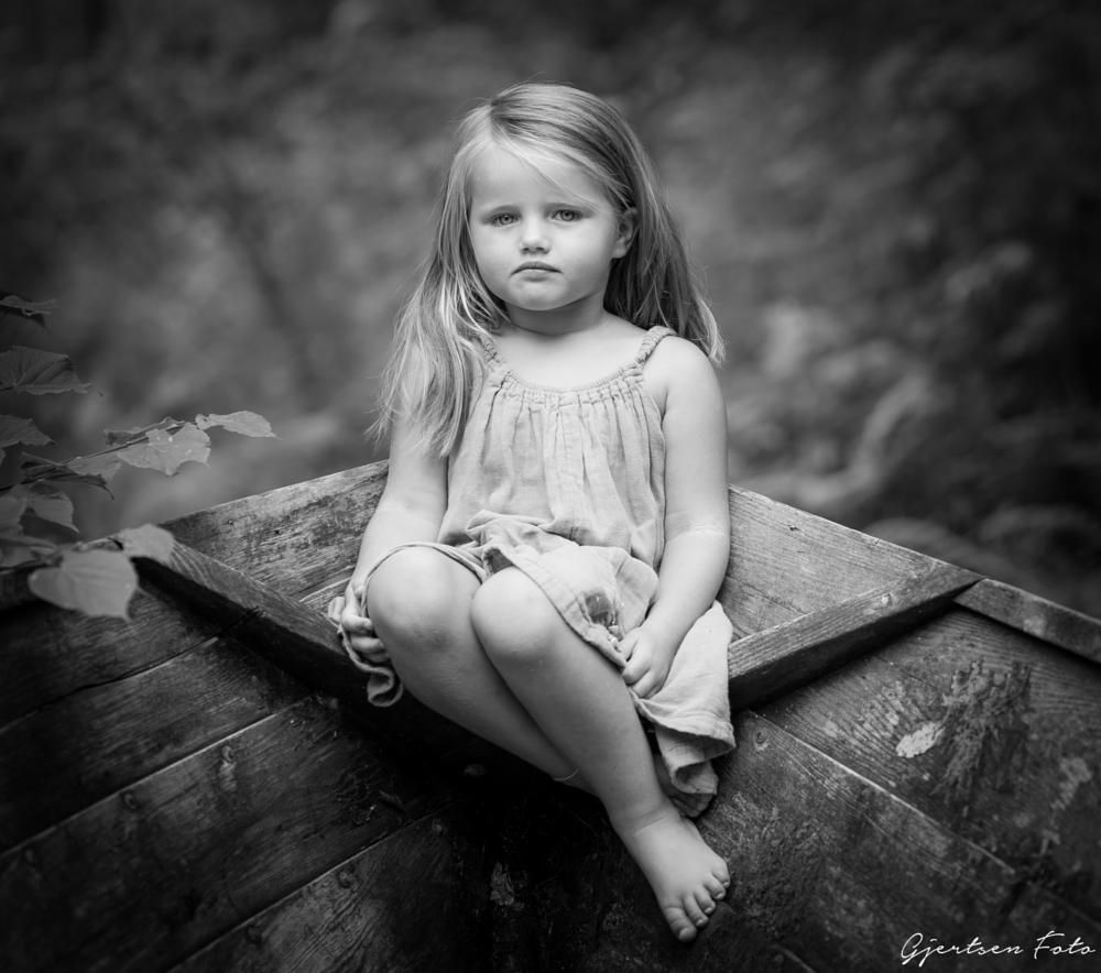 Photo in Portrait #girl #child #childhood #sweet #adorable #natural #nature #innocent #norway #boat
