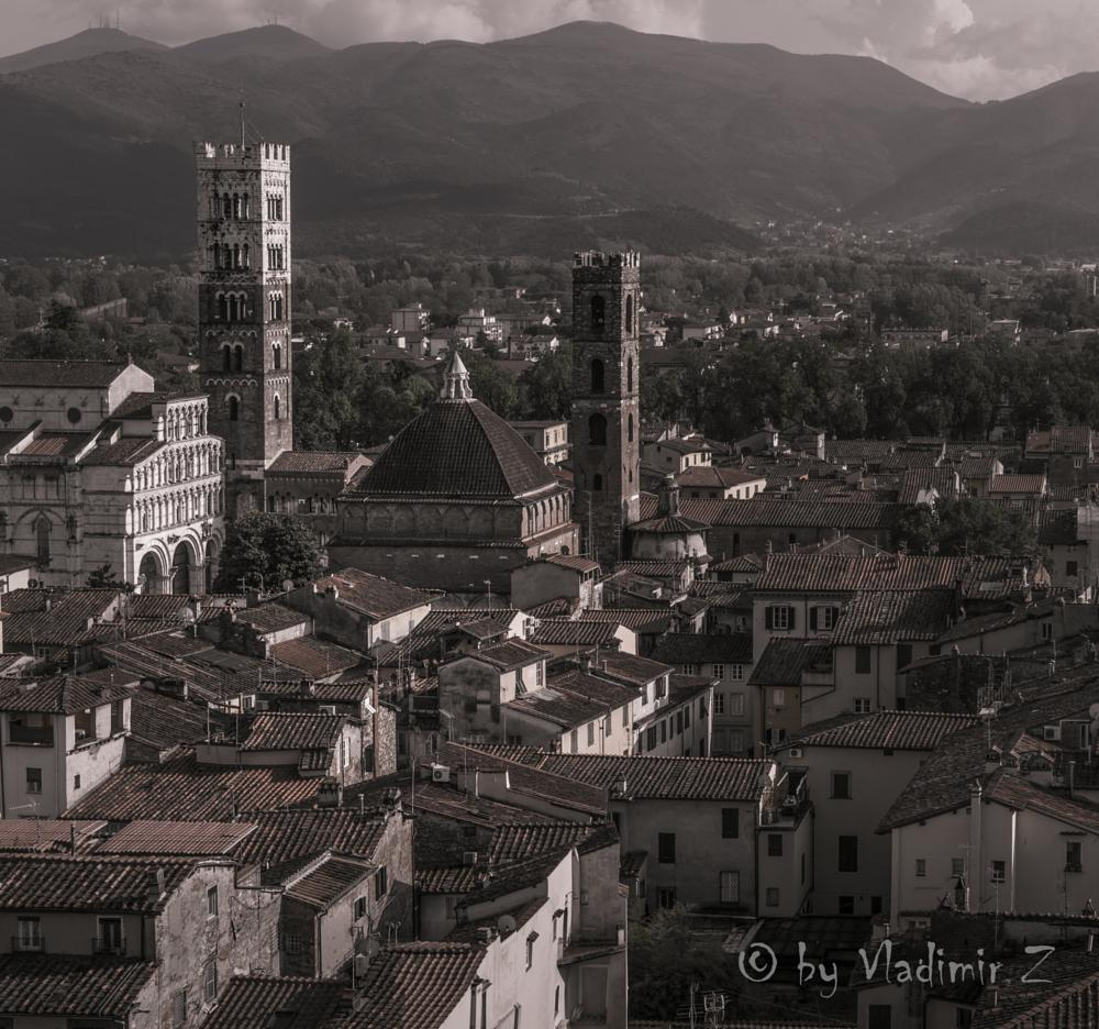 Photo in Cityscape #roofs #towers #old town #lucca #italy #cityscape #architecture #toscana #tuscany