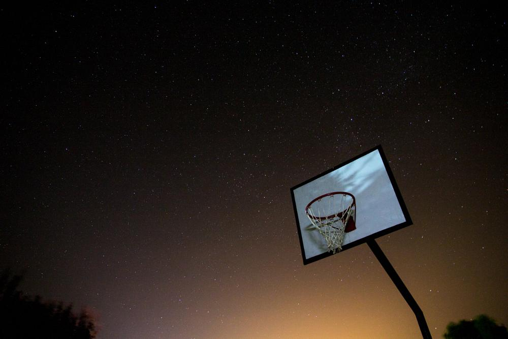 Photo in Astrophotography #basket #basketball #canasta #cielo #deporte #estrellas #landscape #nature #night #noche #sky #sport #stars