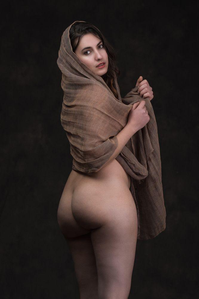 Photo in Nude #lucia reyes #lucia #nude #art #artistic #erotic #fabric #scarf #model #woman #girl #pose #portrait #brunette #beauty #brazil