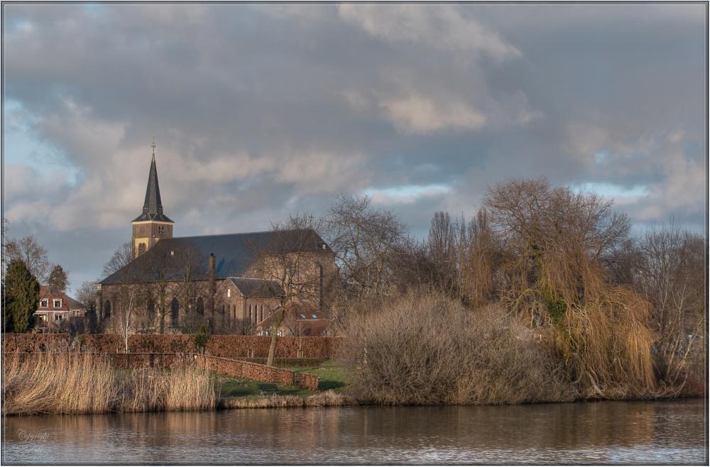 Photo in Landscape #church #lake #tone mapping #trees