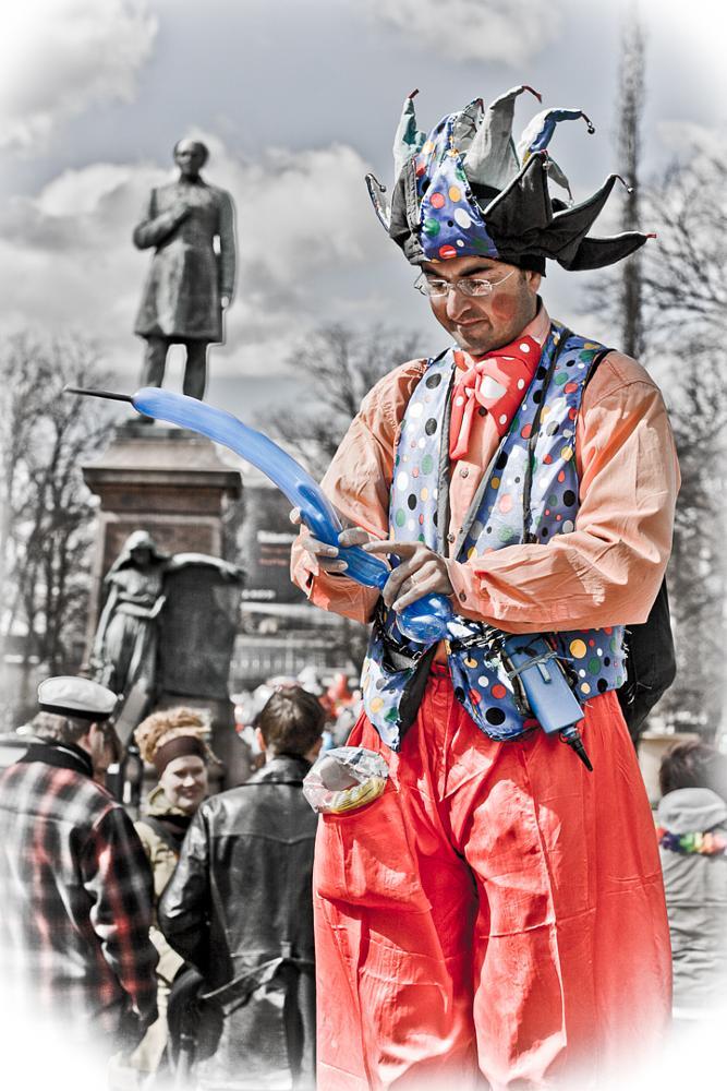 Photo in Street Photography #clown #finland #helsinki #people #street #vappu