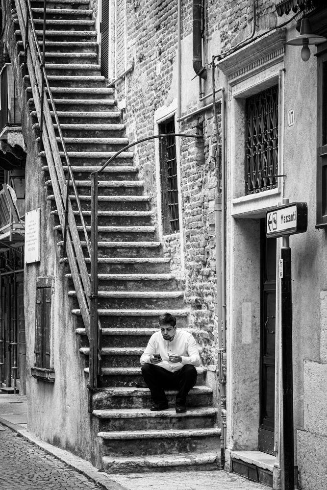 Photo in Street Photography #streetphotography #blackandwhitw #man