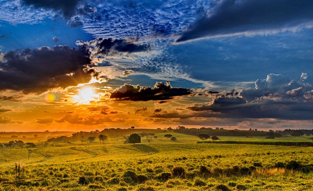 Photo in Landscape #nature #sunset #colors #farm