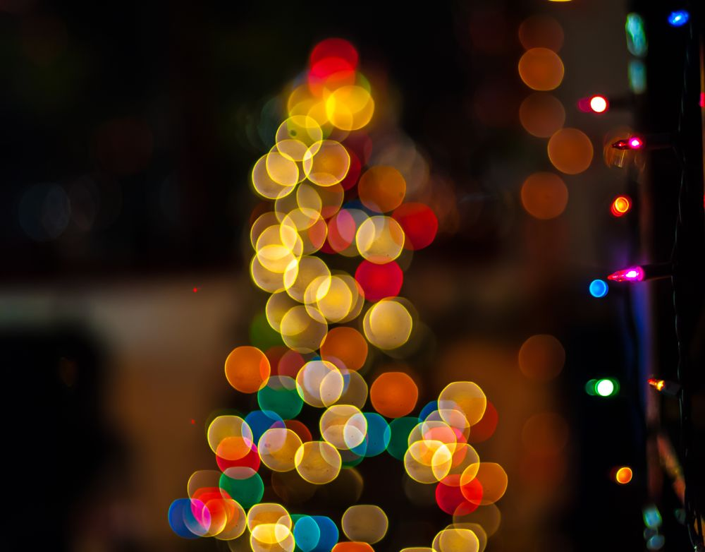 Photo in Landscape #christmas #bokeh #light #holiday #festival #night