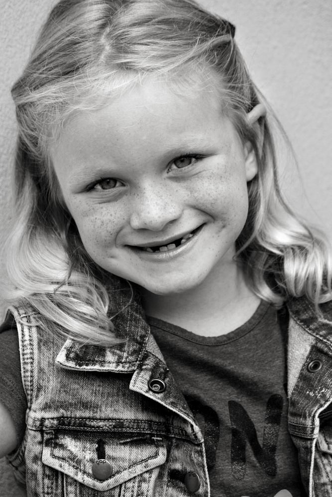 Photo in Portrait #girl #portrait #child #children #close-up #smile #cute #sweet #6-year-old #pretty #posing