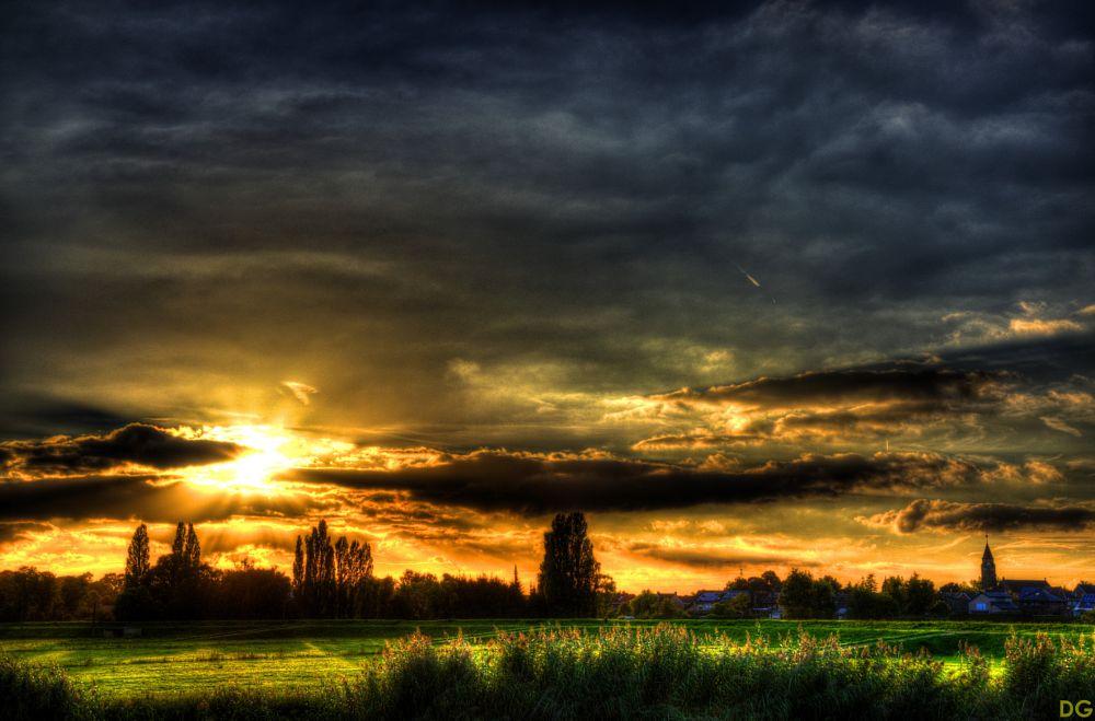 Photo in Landscape #landscape #sunset #clouds #pentax #hdr #photomatix
