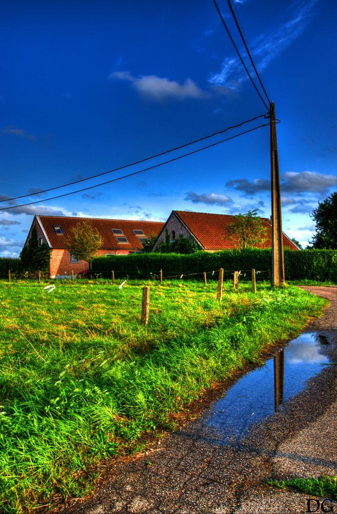 Photo in Landscape #landscape #road #farm #pentax #hdr #photomatix