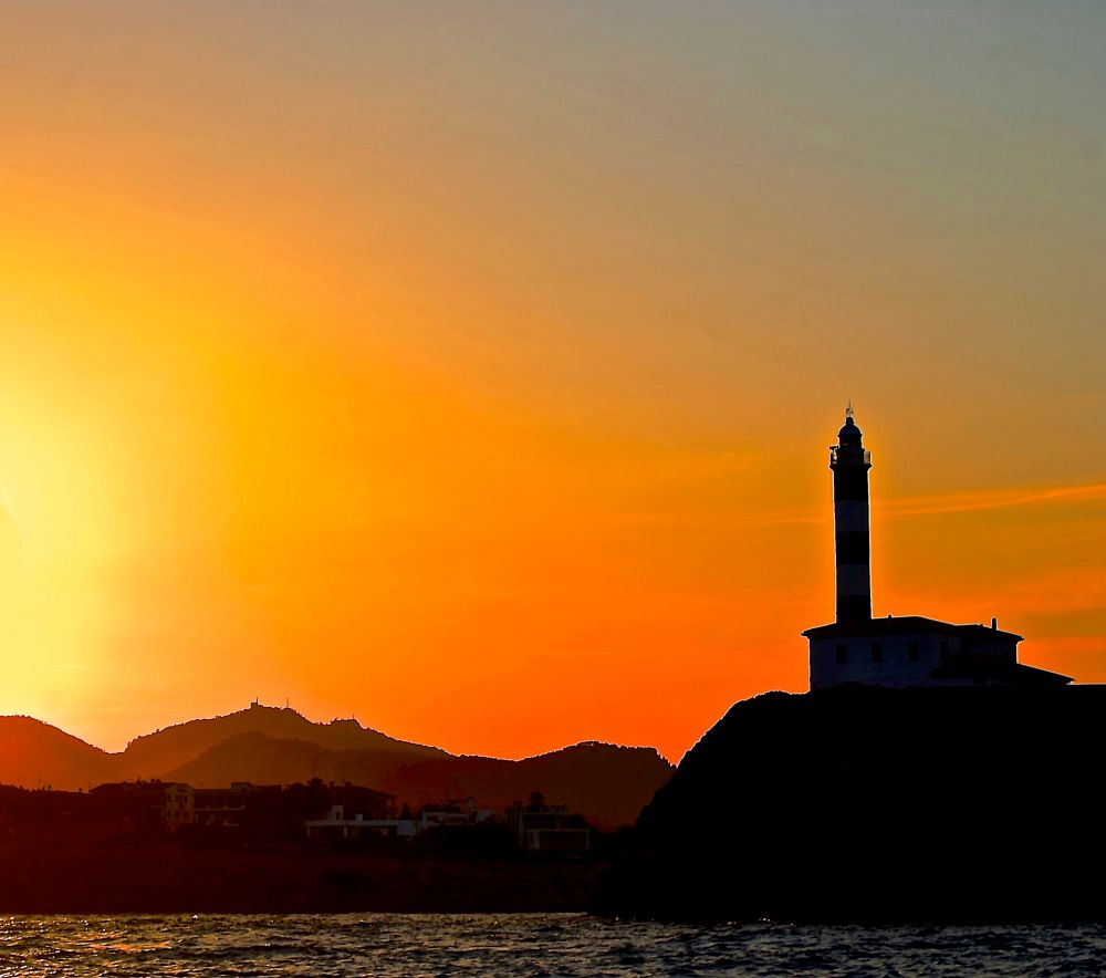 Photo in Landscape #lighthouse #sunset #sea