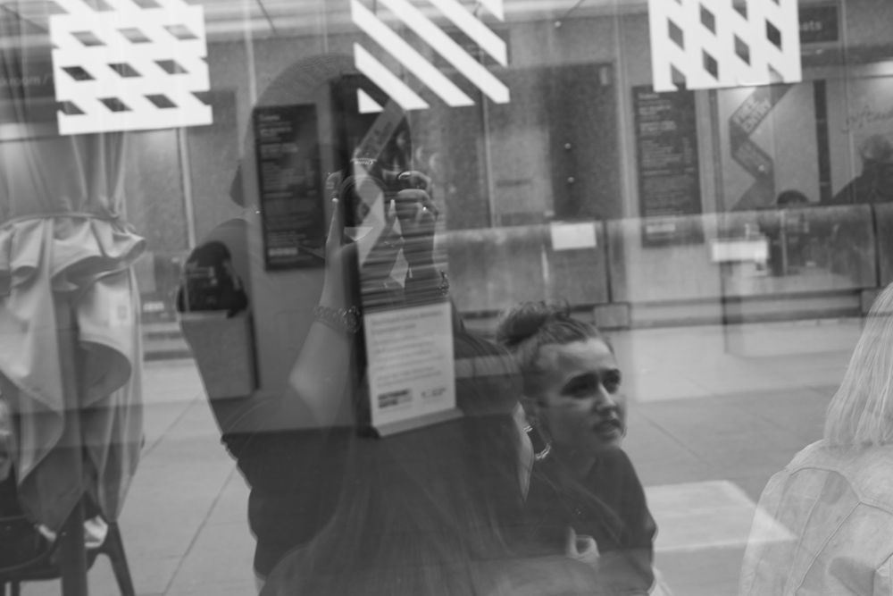 Photo in Random #london #south bank #gallery #self portrait #reflexions