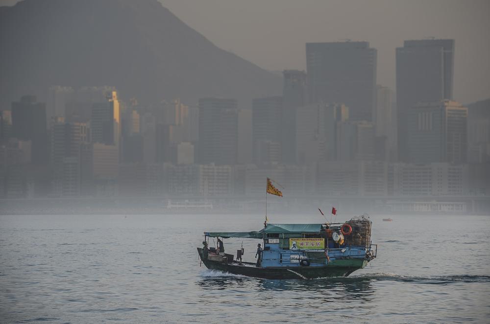 Photo in Landscape #hong kong #boat #harbour