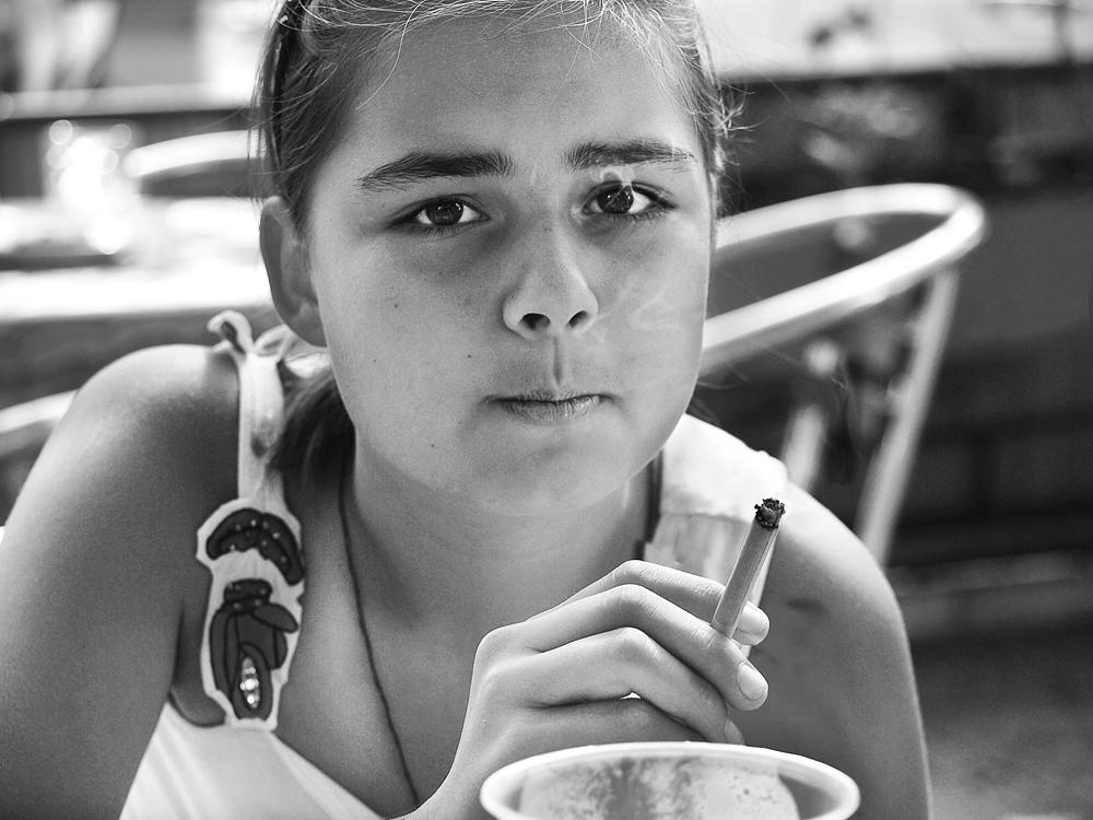 Photo in People #girl city cafe summer ciga