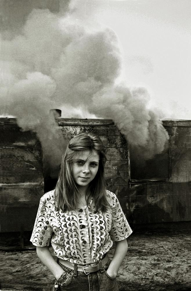 Photo in Film #girl #smoke #fire #wagon