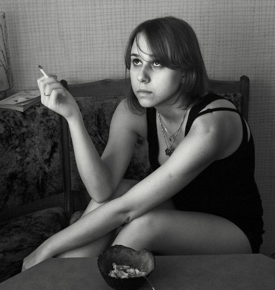 Photo in People #natasha #girl #look #cigarette
