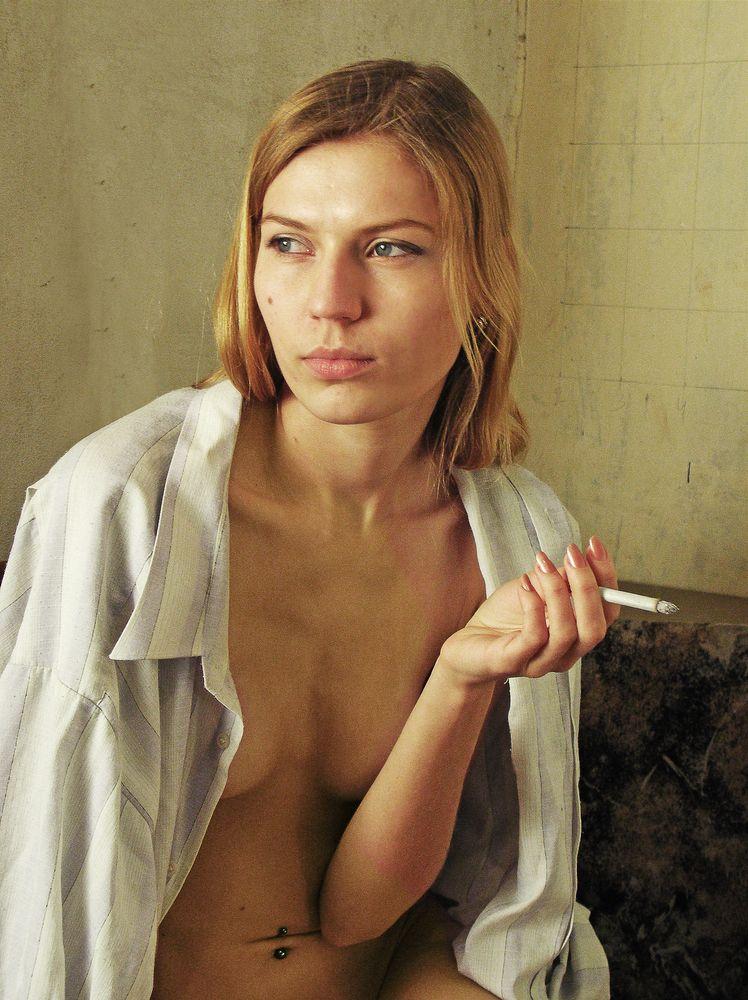 Photo in Portrait #woman #beauty #look #cigarette
