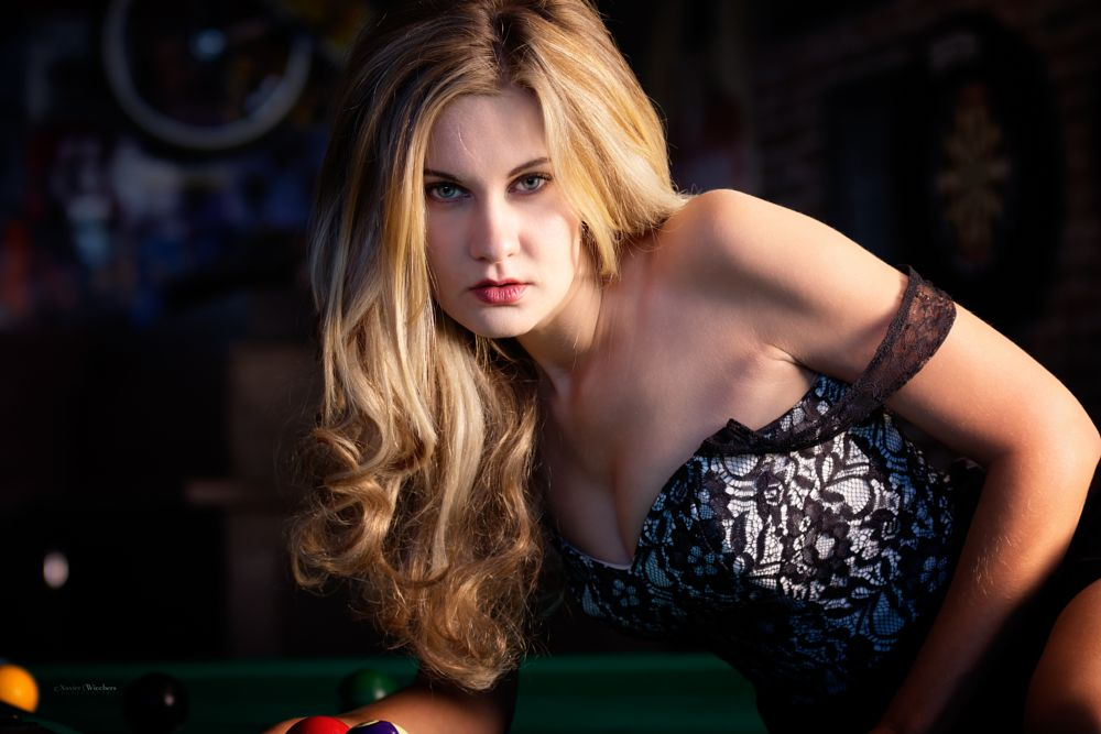 Photo in People #british columbia #canada #great taste #helena heidebrecht #london #meetup #pool #portrait #table #vancouver #balls #bar #beautiful #blonde #blue eyes #fashion #female #gaze #girl #glamorous #glamour #gorgeous #indoors #intense #long hair #look #model #sexy #strap off #woman