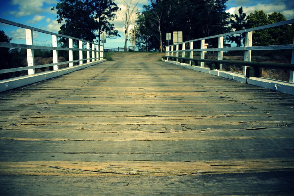 Photo in Landscape #bridge #farm #wood #trees