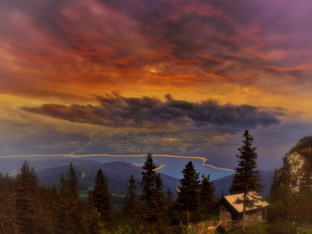 Photo in Landscape #nature #landscape #mountain view #romania #sunset #skyporn