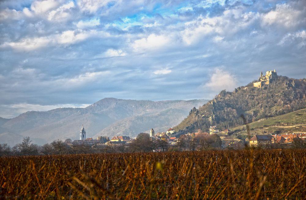 Photo in Landscape #austria #niederösterreich #lower austria #landscape #foggy #sun #castle