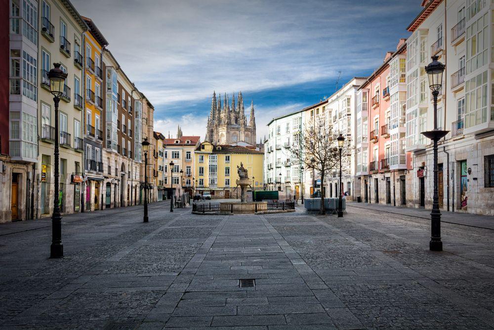 Photo in Cityscape #spain #burgos #travel #morning #sunrise #old #city #landmark