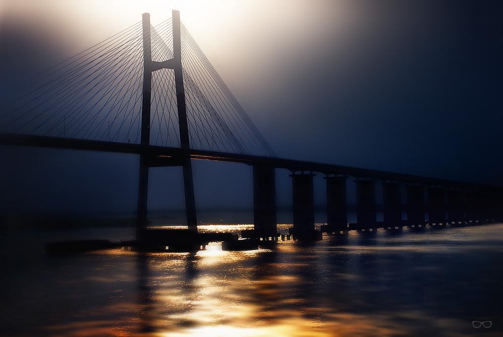 Photo in Cityscape #bridge #puente #amanecer #reflect #reflejo #morning #chachicir