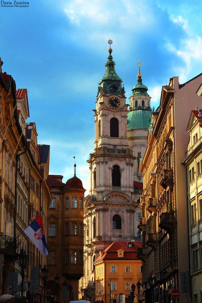 Photo in Architecture #architecture #praha #prague #czechrepublic #building #cathedral #street