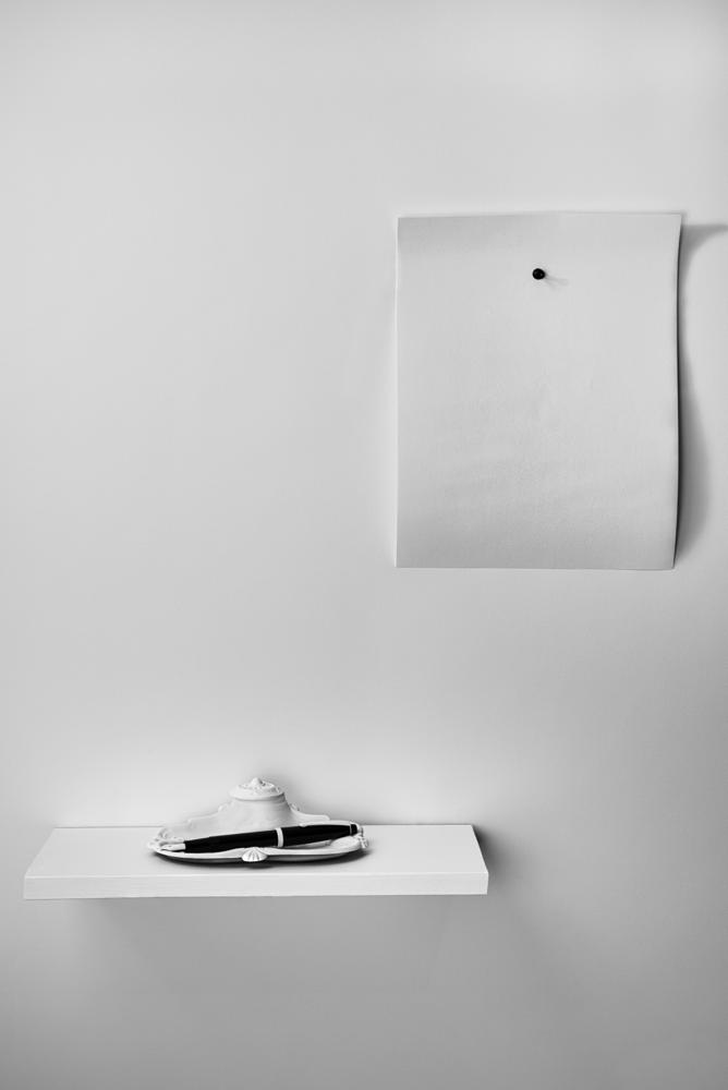 Photo in Black and White #black and white #conceptual #sheet #paper