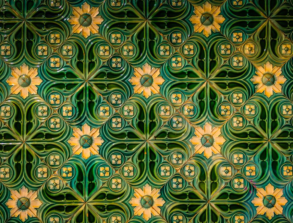 Photo in Abstract #wall tile #portugal #wandfliese #lagos #algarve #ornament #iphone #textur