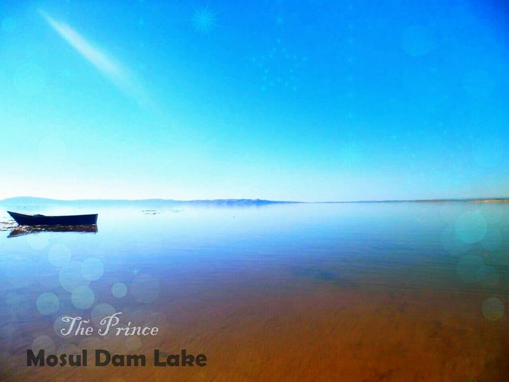 Photo in Nature #lake #dam #blue #nature #beautiful #quite #art #fantasy #awesome #mother nature #earth #water #paradise #cennet #mosul #iraq