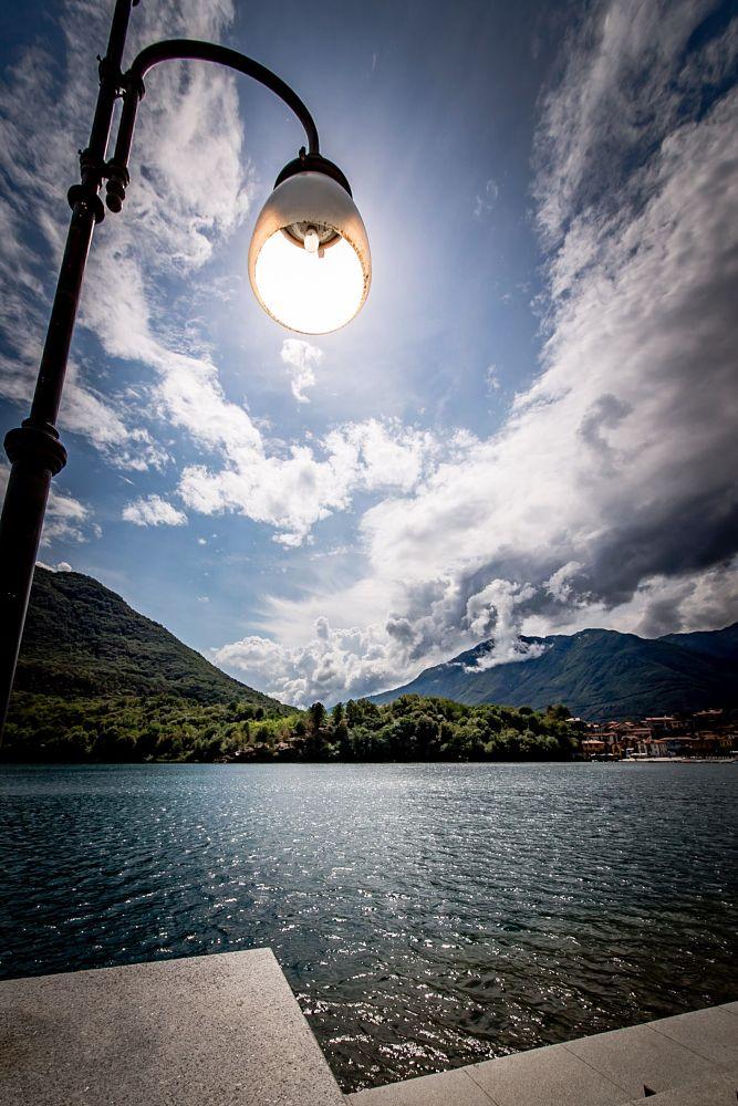 Photo in Landscape #sun #lamp #clouds