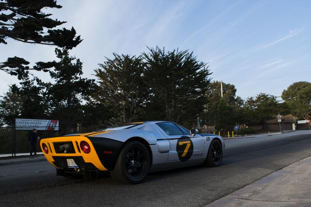 Photo in Vehicle #car #ford #gt #monterey #california #adventure #morning #light #color #orange #driving #motion