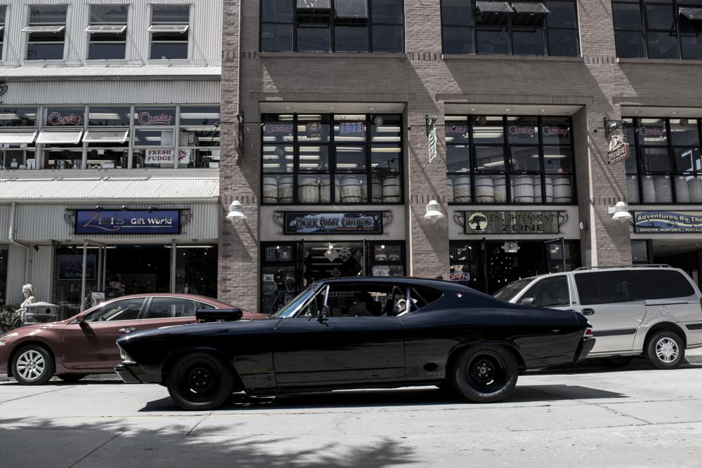 Photo in Vehicle #classic #car #cars #vehicle #automobile #chevy #chevelle #black #murdered out #car show #monterey #speed week