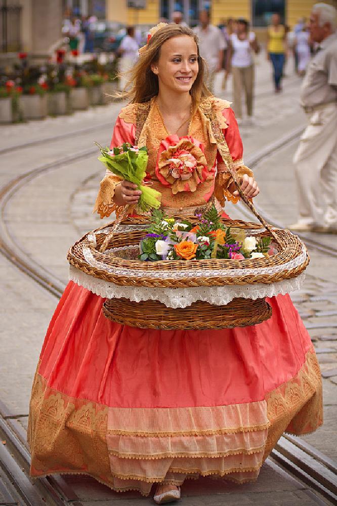 Photo in Street Photography #lviv #city #streetcontest #girl #flowers #beauty #street