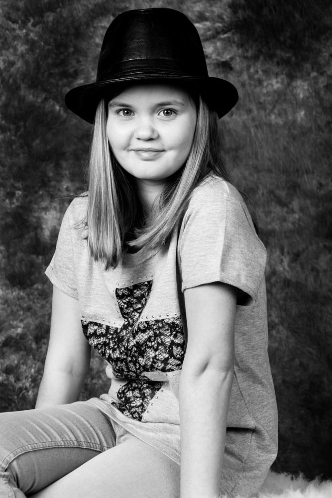 Photo in Black and White #little model #no directions #nice #shoot