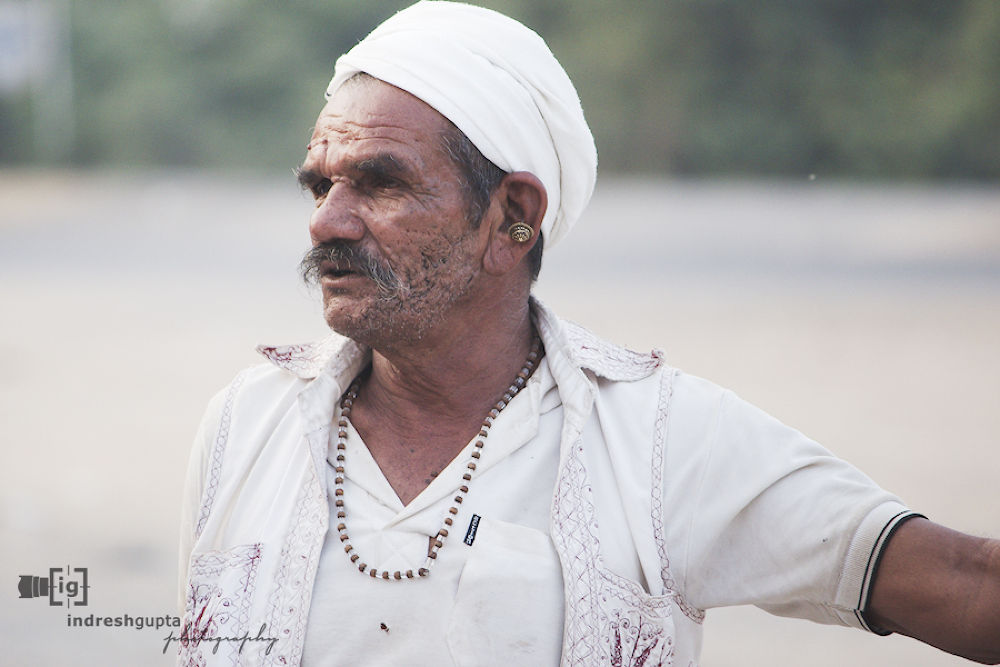 Photo in Portrait #portrait #gujarat #indian #male #traditional #villager #man