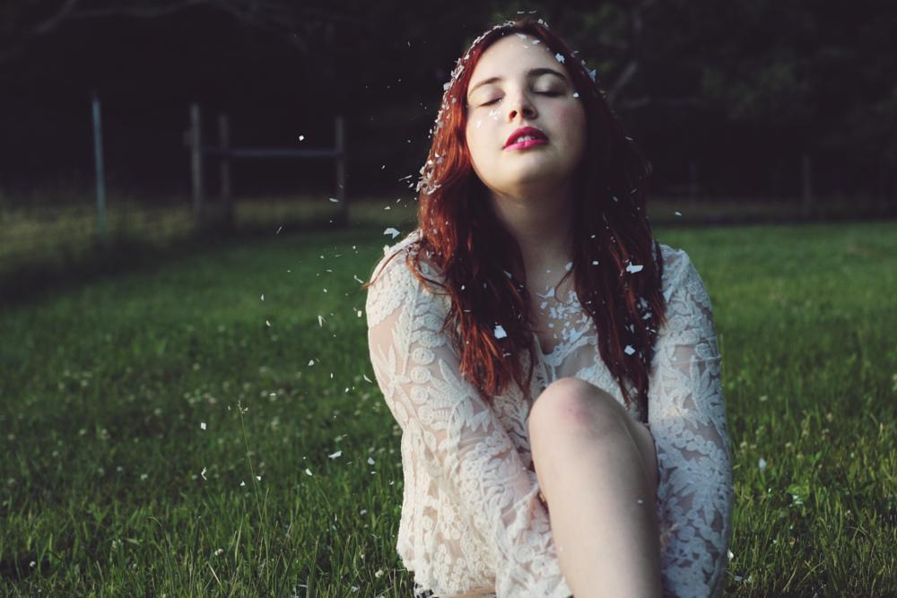 Photo in Fashion #angel #redhead #white #lace