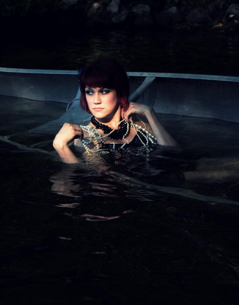 Photo in Fashion #lake #sinking #model #redhead #jewelry #editorial