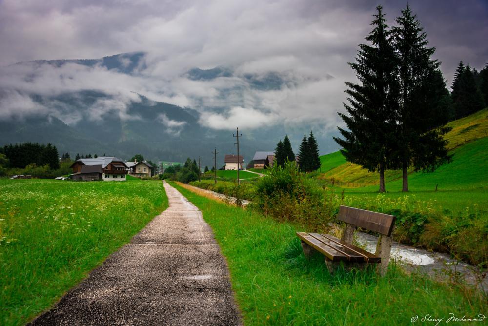 Photo in Landscape #gosau #travel #morning #cold #austria #tourism #travel destination #heavenly #beautiful #nature #landscape