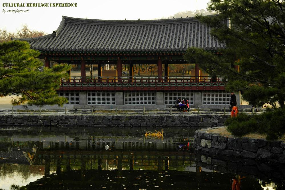 Photo in Architecture #namsan korean traditional folk #n seoul tower #winter trip