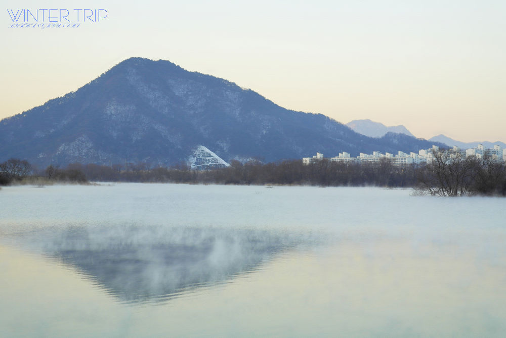 Photo in Landscape #winter landscape #nx20 #chuncheon #so yang lake #wet-fog #spray