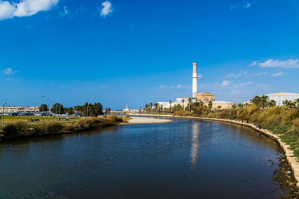 Photo in Urban #israel #reading #yarkon #river #power station