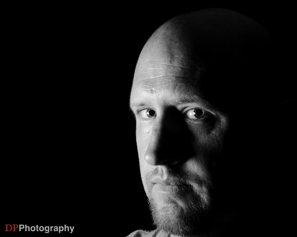 Photo in Black and White #self #black & white #black #white #bald
