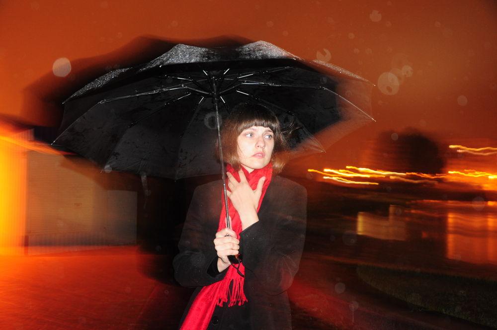 Photo in Portrait #rain #girl #umbrella