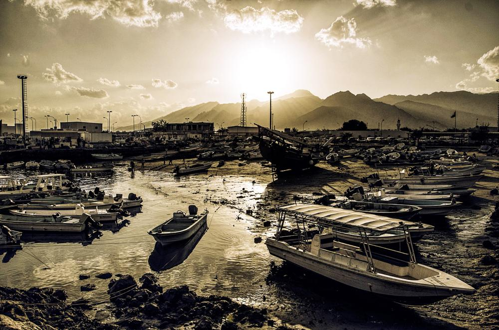 Photo in Travel #boats #harbour #sundown #light