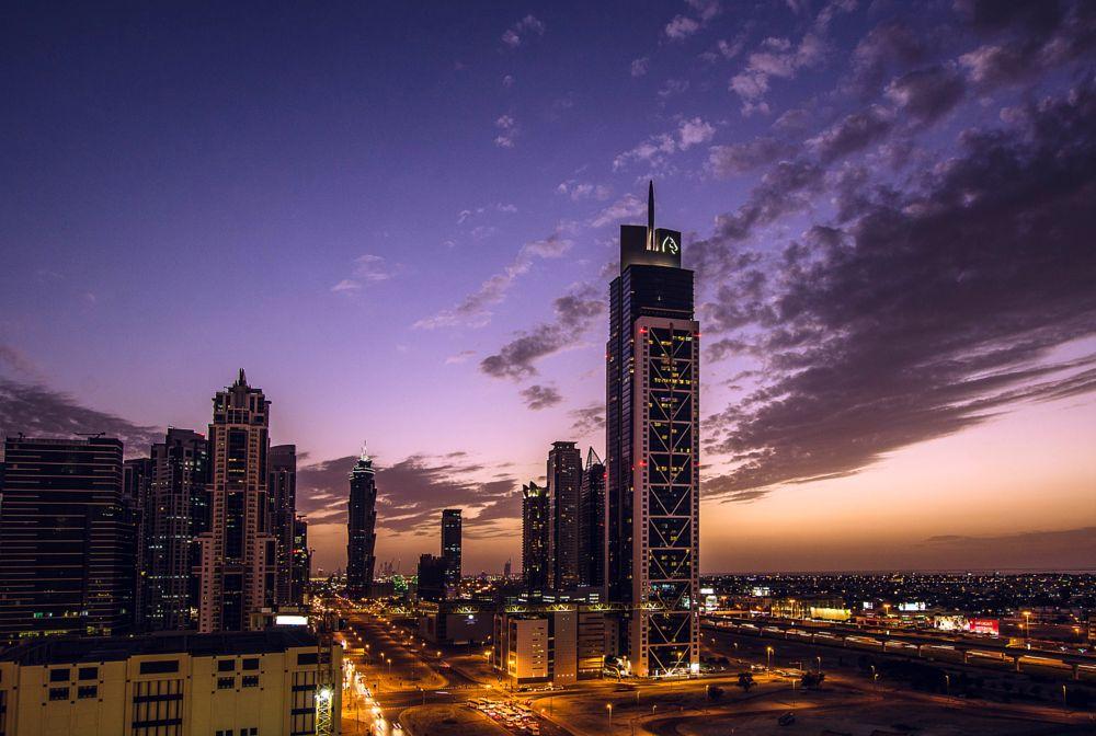 Photo in Cityscape #evening #sky #cityscape #dubai #uae #buildings