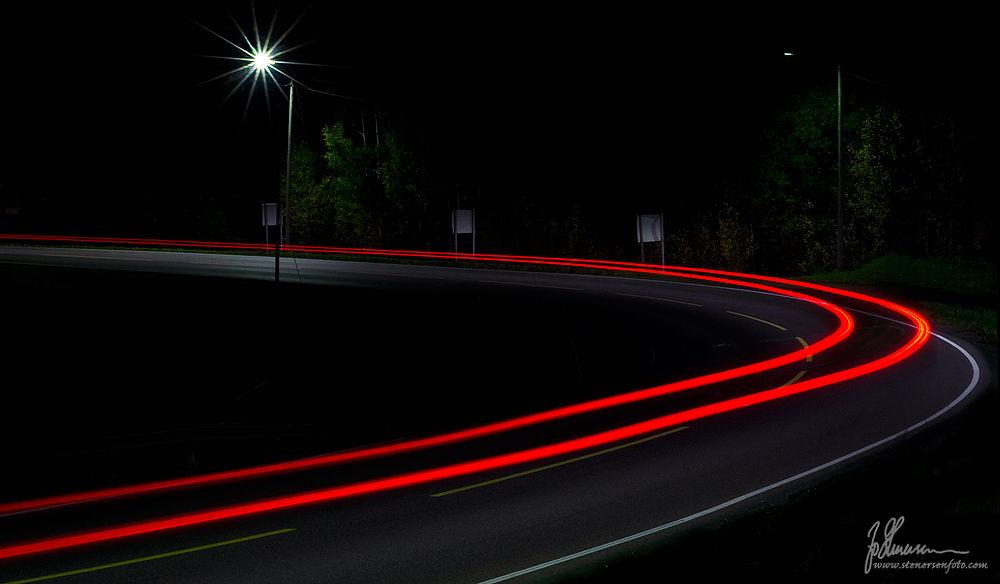 Photo in Random #long exposure #night #evening #road #curve #lights #norway #stenersen